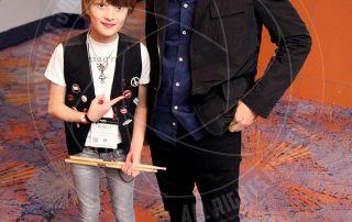Stuart Copeland with Logan Robot Gladden